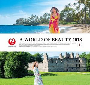 JAL, 2018 캘린더'A World of Beauty'자선판매